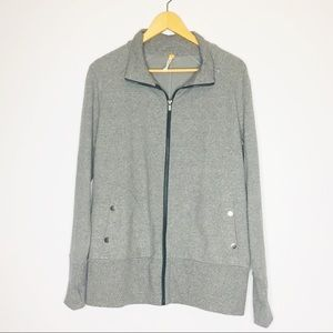 Lucy Athletics Gray Athletic Zip Up Sweater Jacket